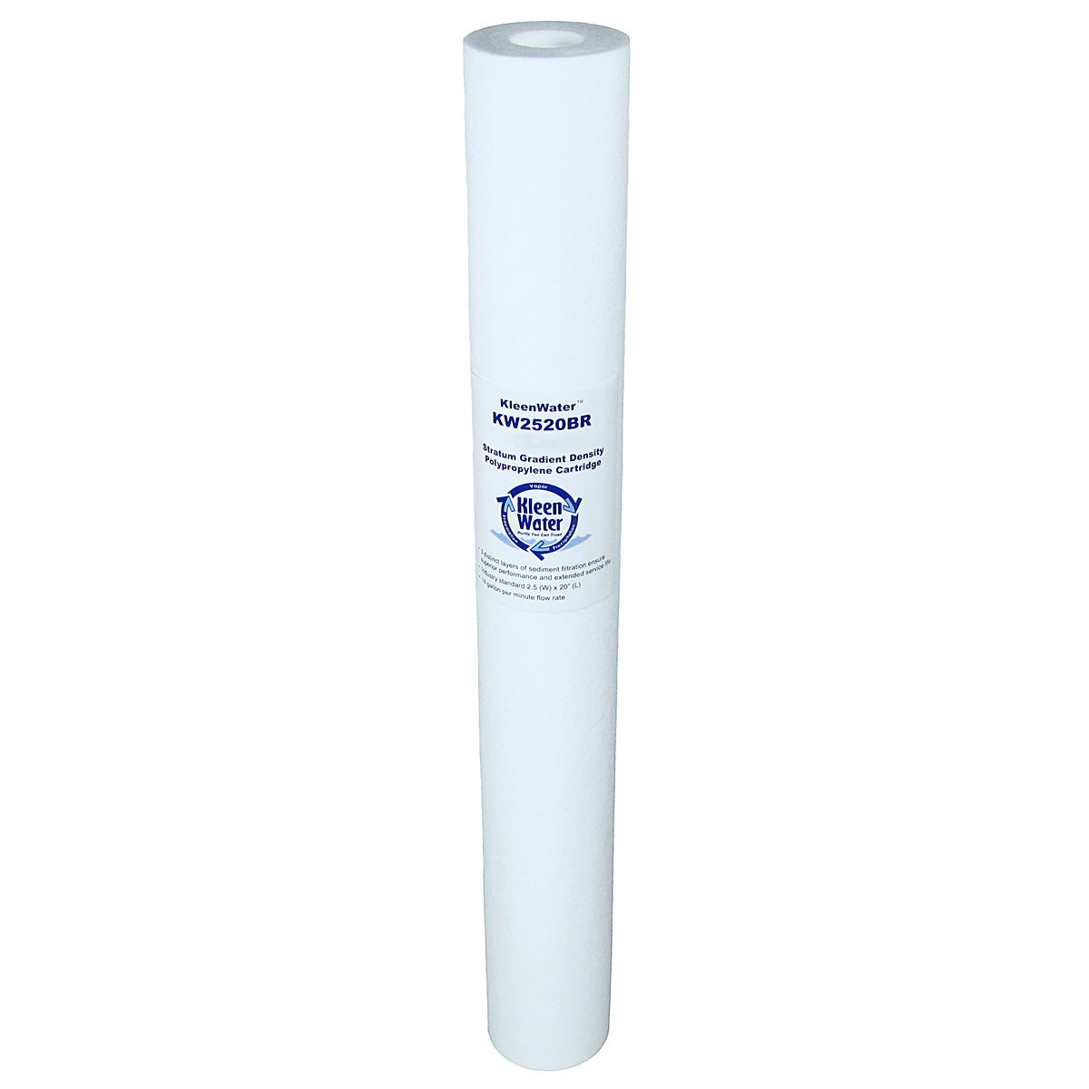Dirt Rust Sediment Whole House Water Filter Cartridge 2.5 x 20 Inch - Kleenwater