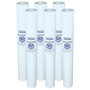 Six PX20-20 GE Compatible Water Filters - 2.5 x 20 Inch - 20 Micron