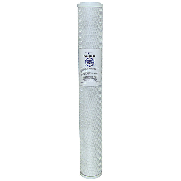 Activated Carbon Block Water Filter Cartridge 2.5 x 20 Inch - Kleenwater