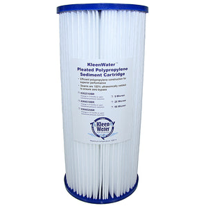 Pleated Dirt Rust Sediment Water Filter Cartridge 4.5 x 10 Inch - Kleenwater