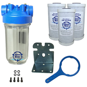 KleenWater Premier Whole House Chlorine Water Filter System - 4.5 x 10