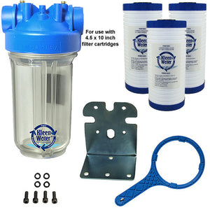 KleenWater Premier Whole House Sediment Water Filter System - 4.5 x 10 - Kleenwater