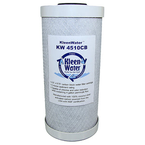 Carbon Block Water Filter Cartridge - 4.5 x 10 Inch - 5 Micron - Kleenwater
