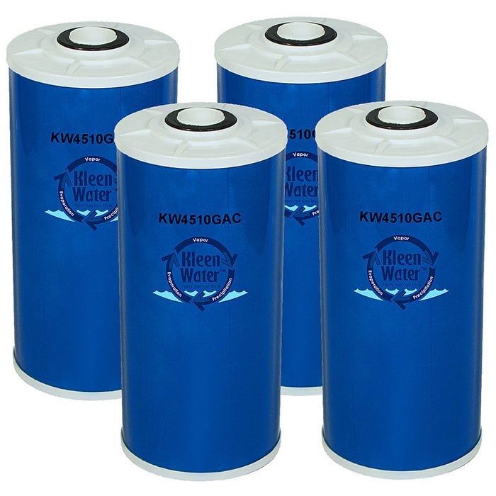 GE FXHTC Compatible Water Filter, Granular Carbon Cartridge, Set of 4 - Kleenwater