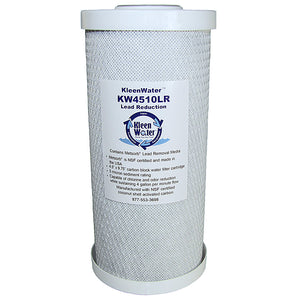 4.5 x 10 Lead Removal Solid Activated Carbon Block Water Filter - Kleenwater