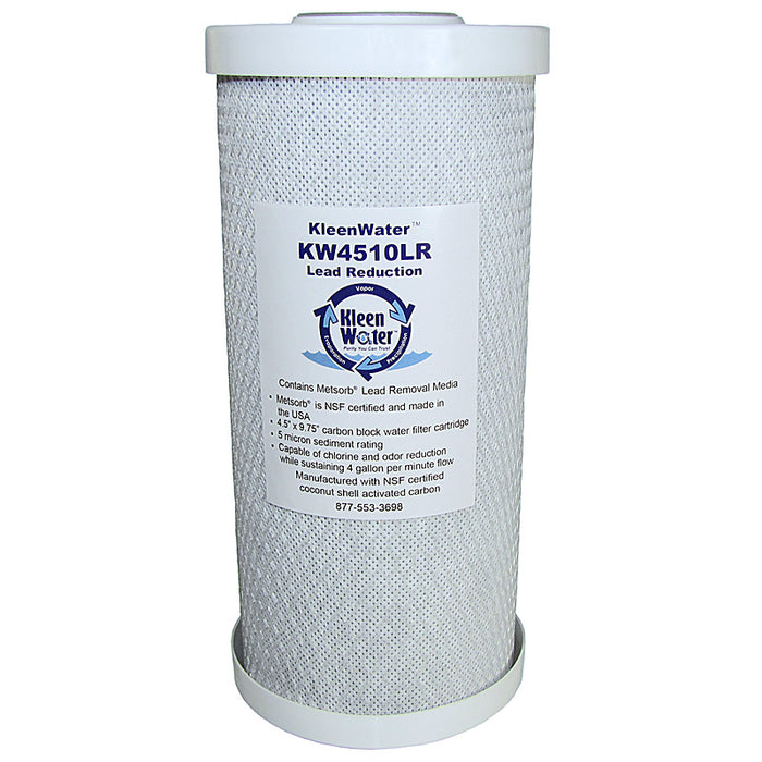 KleenWater Lead Removal Carbon Block Water Filter, 4.5 x 10 Inches