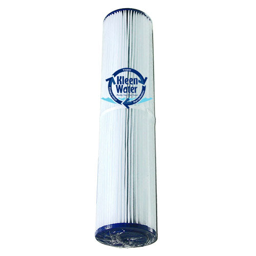 Pleated Dirt Rust Sediment Water Filter Cartridge 4.5 x 20 Inch - Kleenwater
