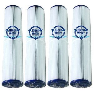 Four 20 Micron Pleated 4.5 x 20 Inch Replacement Water Filters