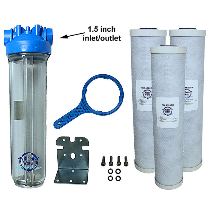 Premier4520 Chlorine Whole House Water Filter System - 1.5 Inch NPT