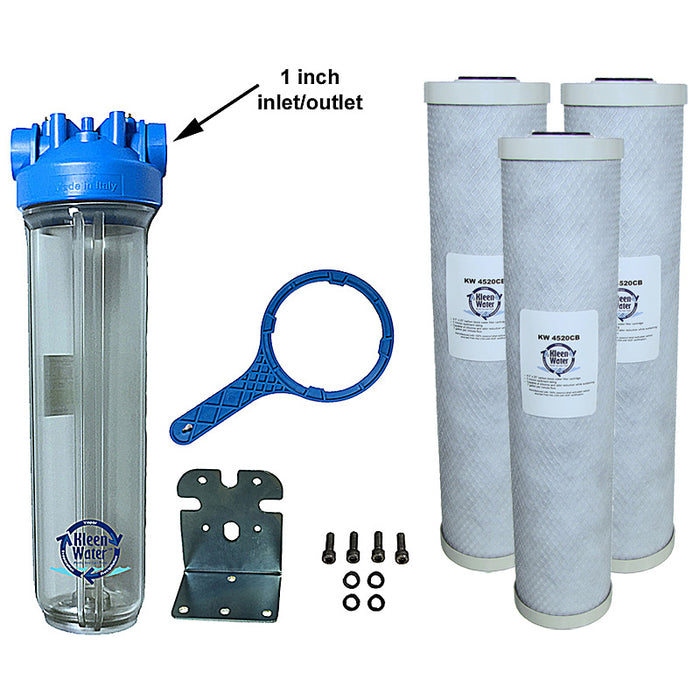 Premier4520 Chlorine Whole House Water Filter System - 1 Inch NPT