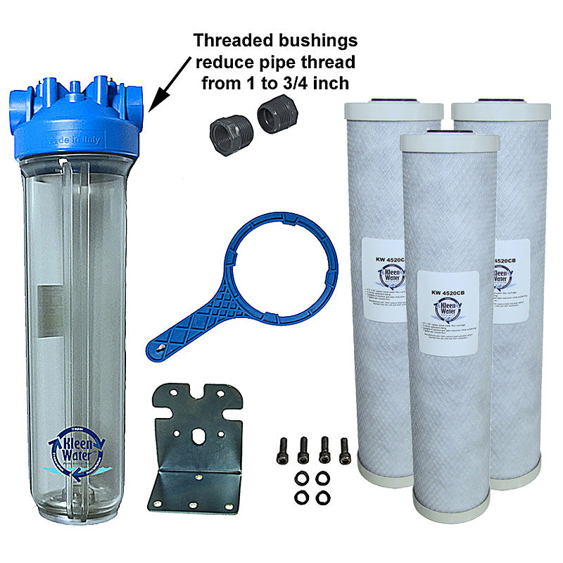 Premier4520 Carbon Whole House Water Filter System - 3/4 Inch NPT