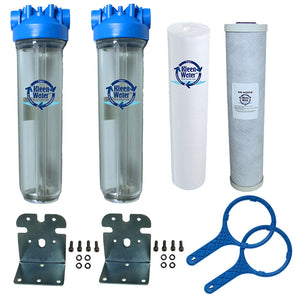 Dual Stage Whole House Chlorine and Sediment Water Filter System