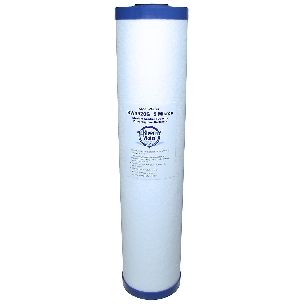 Dirt Rust Sediment Water Filter Cartridge - 5 Micron - 4.5 x 20 Inch