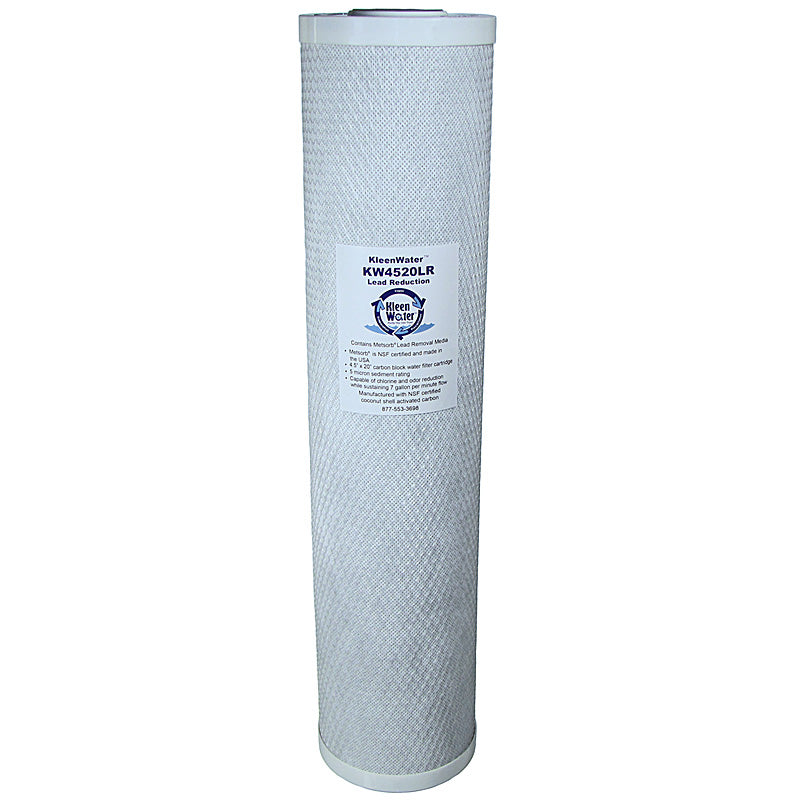 KleenWater Lead Removal Carbon Block Water Filter, 4.5 x 20 Inches