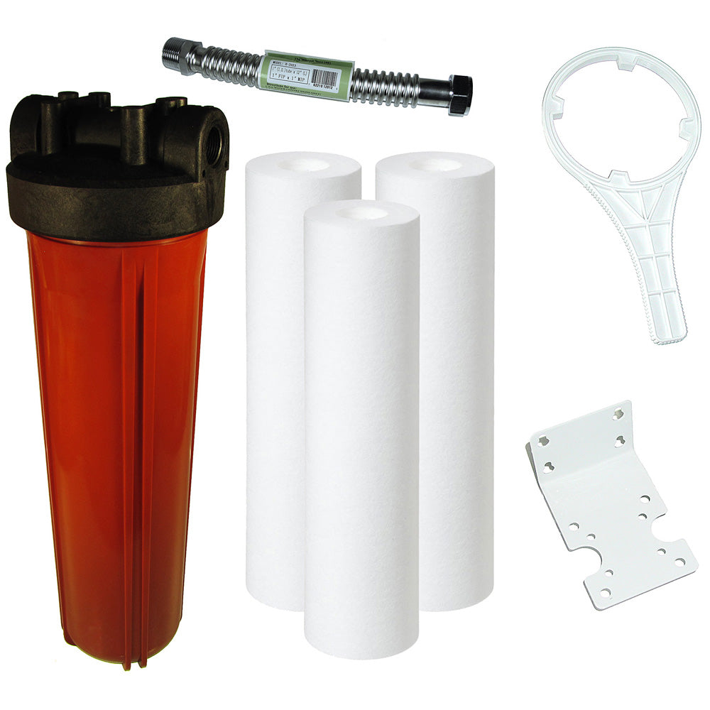 4.5 x 20 Inch High Temperature Water Filter Multi-Pack System