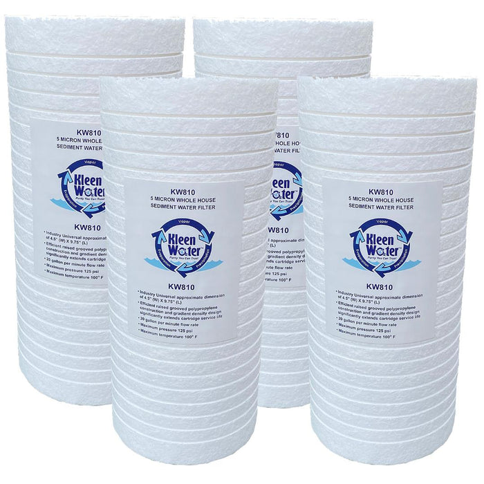 Dirt Rust Sediment Filter with Polyphosphate, 4.5 x 9.75, Set of 4