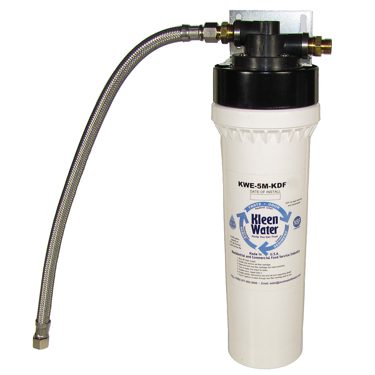 KleenWater KWE-1M-KDF-DWS Under Sink Drinking Water Filter System