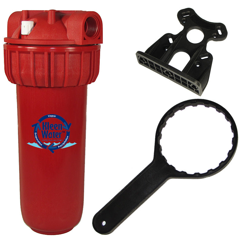 Hot Water Filter, Mounting Bracket and Wrench