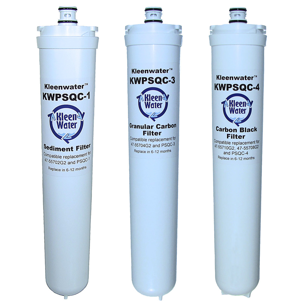 Water Factory SQC 4 Set of Three Compatible Water Filter Cartridges