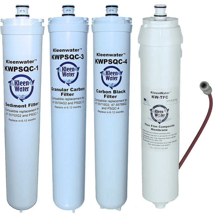 Water Factory SQC 4 Set of Three Replacement Water Filters with Module