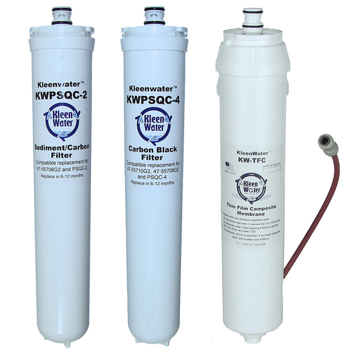 Water Factory SQC 3 Set of Three Replacement Water Filters with Module