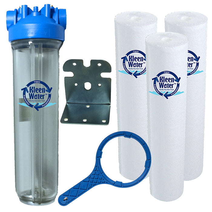 Premier4520 Sediment Whole House Water Filter System - 3/4 Inch NPT