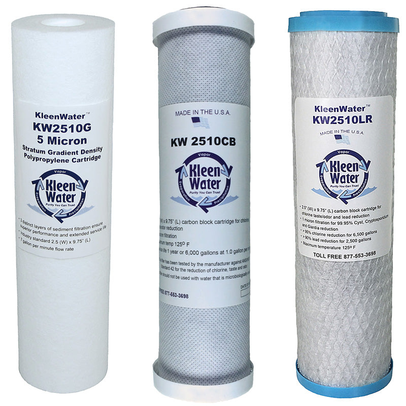 PWFRO50RC3 - Reverse Osmosis Replacement Cartridges(3 set) - Kleenwater