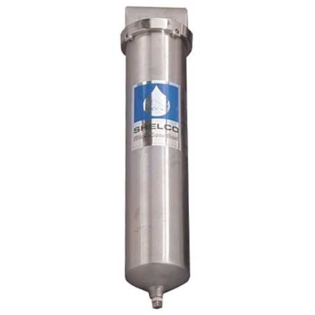 2.5  x 20 Shelco Stainless Steel Water / Fluid Filter Housing - RHS-80 - Kleenwater