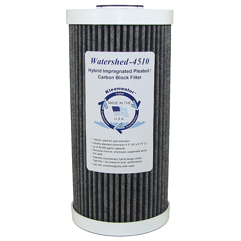 Watershed4510 Hybrid Pleated / Carbon Block Whole House Filter