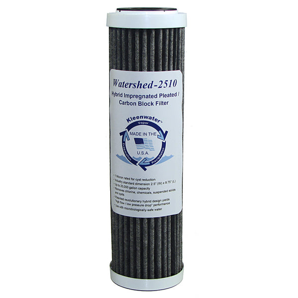Watershed2510 Hybrid Pleated / Carbon Block Whole House Water Filter
