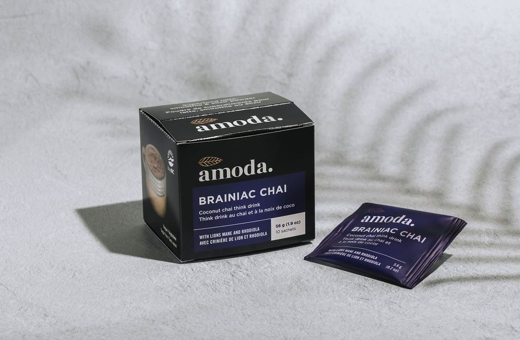 Amoda Brainiac Coconut Chai Think Drink