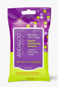Andalou Naturals Micellar One Step Facial Cleansing Swipes
