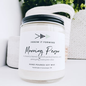 Arrow It Forward Morning Person Hand Poured Soy Wax Candle
