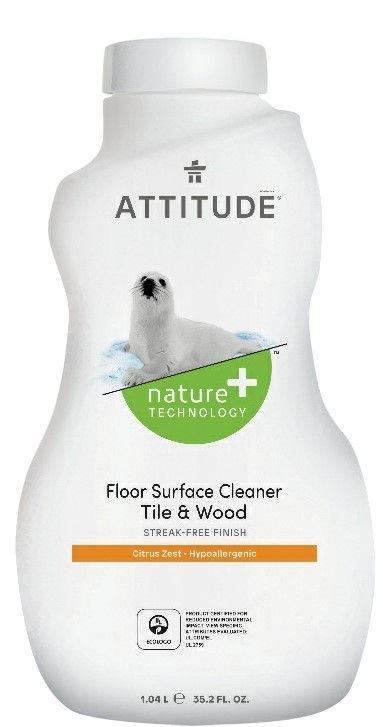 Attitude Nature Technology Floor Surface Cleaner Tile Wood Citrus Zest
