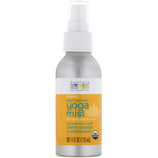 Aura Cacia Organic Motivating Yoga Mist Sweet Orange and Peppermint
