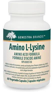 Genestra Brands Amino L Lysine Amino Acid Vegetable Capsules