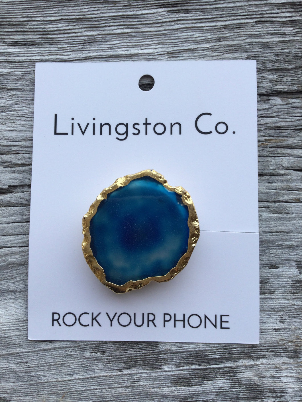 "Livingston Co Rock Your Phone Phone-Grips ""Pretty things make me smile"""