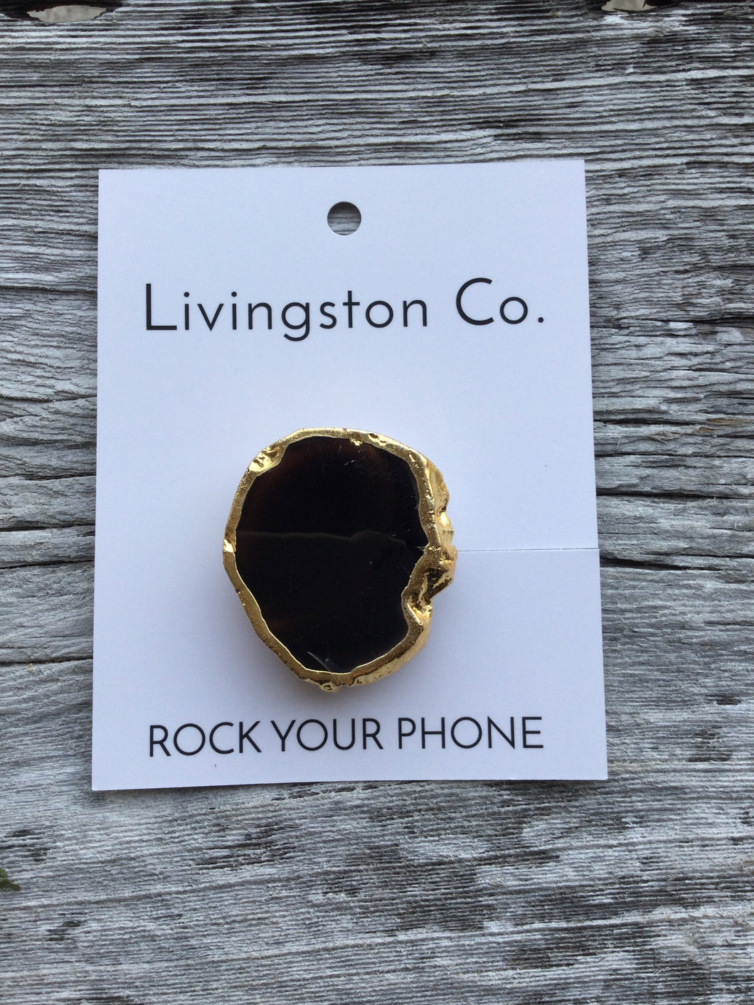 "Livingston Co Rock Your Phone Phone-Grips ""What I need to tell you is not on repeat in my head"""