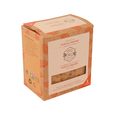 Crate 61 natural soap TRIO - vanilla orange