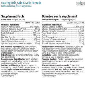 Nova Scotia Organics healthy hair skin and nails capsules