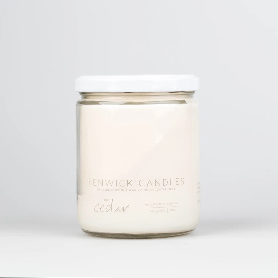 Fenwick Candle Cedar 13 oz 80 hour