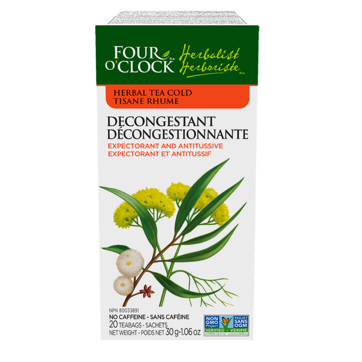Four O'Clock Decongestant Herbal Tea No Caffeine