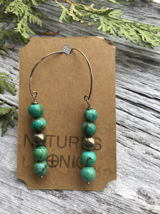 Nature's Tonic Jewelry Turquiose Earrings