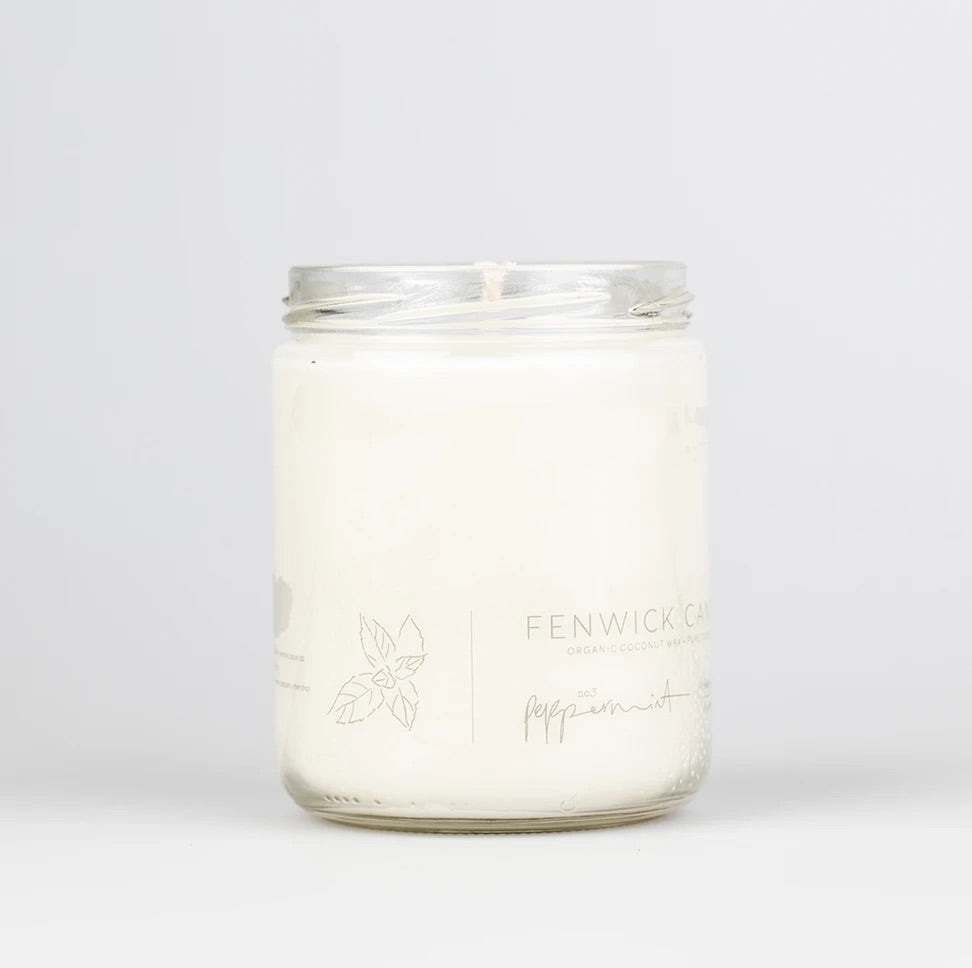 Fenwick Candle Peppermint 13 oz 80 hour
