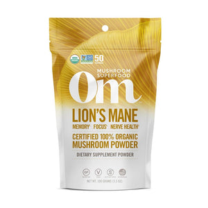 Om mushroom superfood Lions Mane powder