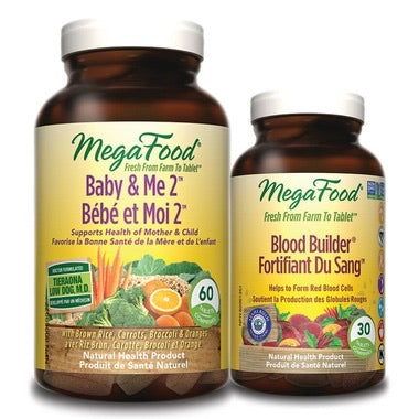 MegaFood Baby & Me Herb Free Multi-Vitamin (with bonus blood builder)