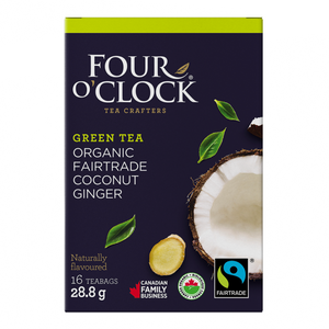 Four O'Clock Green Tea Organic Coconut Ginger