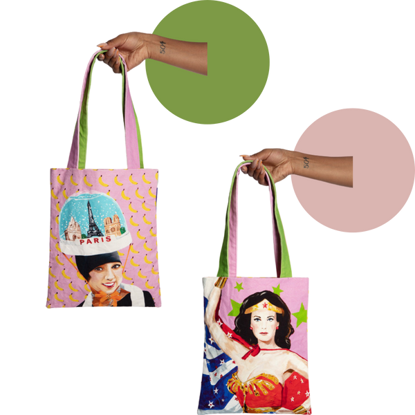 Josephine Baker/Wonder Woman Two-Sided Power Woman Tote