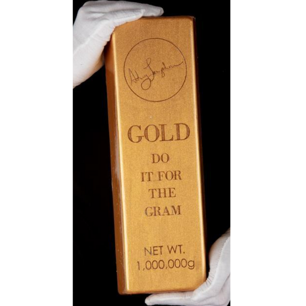 Gold Bar Designer Table Art Sculpture 4 of 21