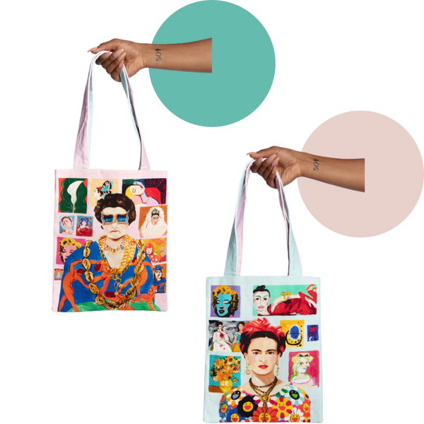 Frida Kahlo/Peggy Guggenheim Two-Sided Power Women Tote